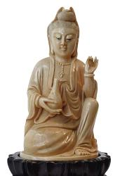 small Chinese ivory Buddha (5 in. tall)